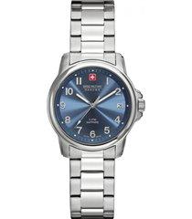 reloj casual plateado swiss military