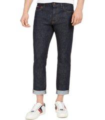 tommy hilfiger denim men's slim-fit stretch selvedge jeans