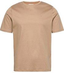 fram basic tee t-shirts short-sleeved beige fram