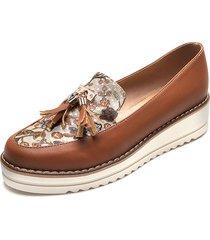 zapato borlas miel folia emilia