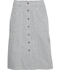 skirt long woven fab knälång kjol grå gerry weber edition