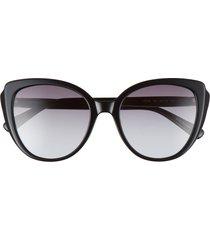 women's longchamp 55mm butterfly sunglasses - black/ grey gradient