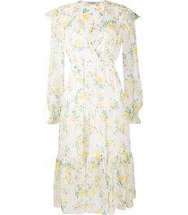 philosophy di lorenzo serafini tiered floral-print chiffon midi dress