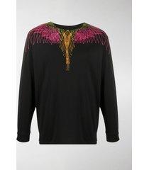 marcelo burlon county of milan digital-print crew neck jersey sweatshirt