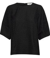hazell top blouses short-sleeved zwart modström