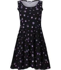 vestido tipo a estampado color negro, talla xs