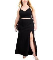 b darlin trendy plus size 2-pc. maxi dress
