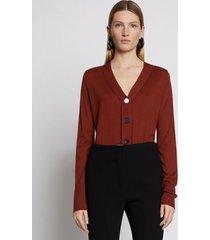 proenza schouler silk cashmere cardigan rust/red l