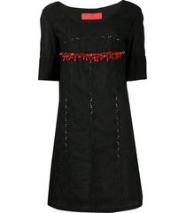 a.n.g.e.l.o. vintage cult 1990s beaded detail embroidered dress -