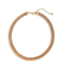 nordstrom double mesh collar necklace in gold at nordstrom