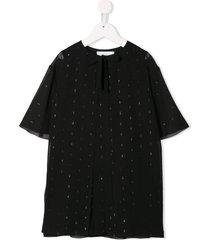 señorita lemoniez brisa cape dress - black