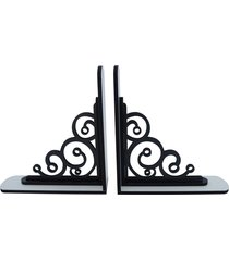 objeto decorativo crie casa apoio livros preto