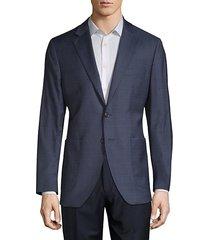 wool & silk pincheck sport jacket