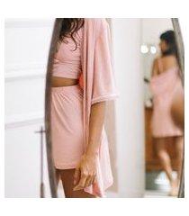 kimono/robe modal + karícia íntima + romance
