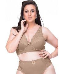 suti㣠sempre sensual lingerie vintage marrom claro - marrom - feminino - dafiti