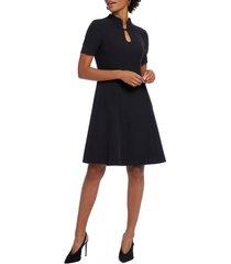 women's nic+zoe leading lady fit & flare dress, size 0 - black