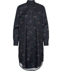 raven shirt dress kort klänning blå makia