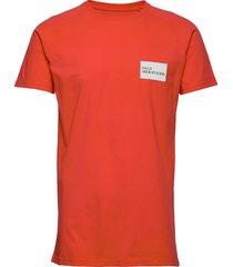 halo cotton raglan tee t-shirts short-sleeved röd halo