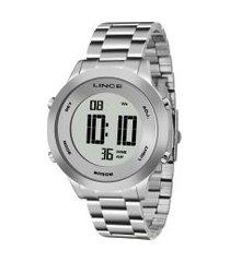 relógio digital lince feminino - sdph039l prateado