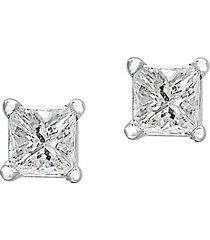 14k white gold & 0.14 tcw diamond stud earrings