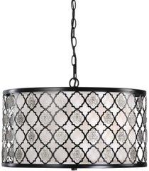 uttermost filigree 3-light drum pendant