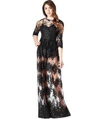 długa koronkowa sukienka marciano