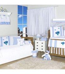 quarto completo padroeira baby airplane azul bebê