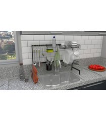 cozinha suspensa modular autosustentável escorredor 20 peças dicarlo preta