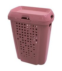 cesto de roupas 45 litros c/ tampa astra rb7-rse rosê