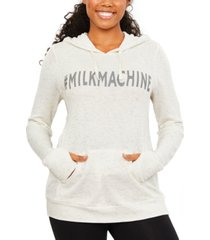 motherhood maternity milk machine nursing hoodie