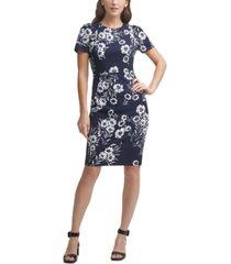 calvin klein petite floral sheath dress