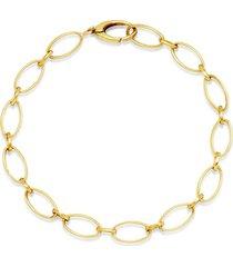 18k yellow gold medium edith link bracelet