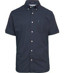 ben sherman men's gingham-print short-sleeve shirt - red - size xl