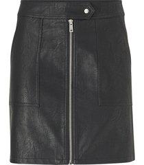 kjol onlerica faux leather skirt