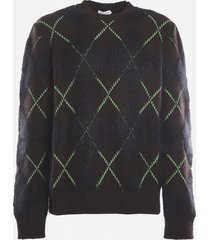 bottega veneta wool and mohair sweater with contrasting inserts