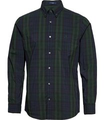 d2. tp bc winter check reg bd skjorta casual grön gant