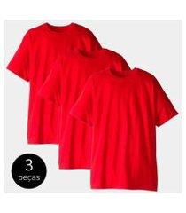 kit com 3 camisetas part.b t-shirt 100% algodão masculina