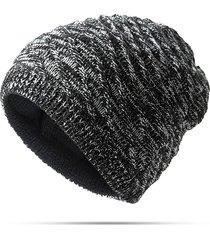 beanie reversibile invernale in maglia twill calda