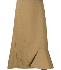 3.1 phillip lim ruffle hem skirt - neutrals
