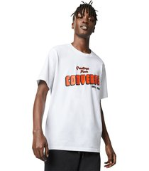 converse camiseta greetings white