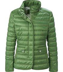 doorgestikte jas met lange mouwen van basler groen
