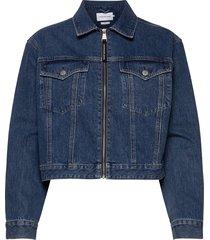 cropped foundation denim jacket jeansjacka denimjacka blå calvin klein jeans