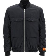 heron preston bomber jacket with maxi pockets