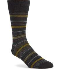 men's boss multi stripe crew socks, size one size - grey