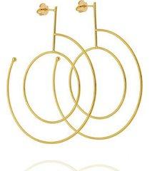 brinco maxi circulos leve dona diva semi joias feminino