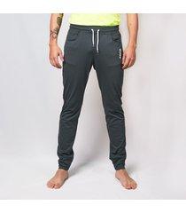 pantalon jogger basico - gris  saeta