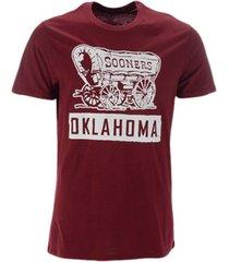 '47 brand oklahoma sooners men's qualifier super rival t-shirt