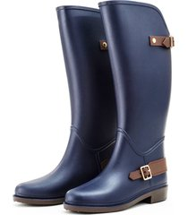 botas de lluvia impermeable horse riding bottplie - azul navy