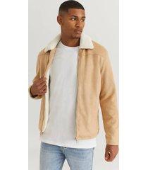 jacka teddy fake suede jacket