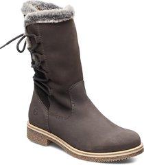 woms boots shoes boots ankle boots ankle boots flat heel grå tamaris